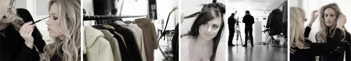 Stylists, hair and make-up for models at Basement Photographic