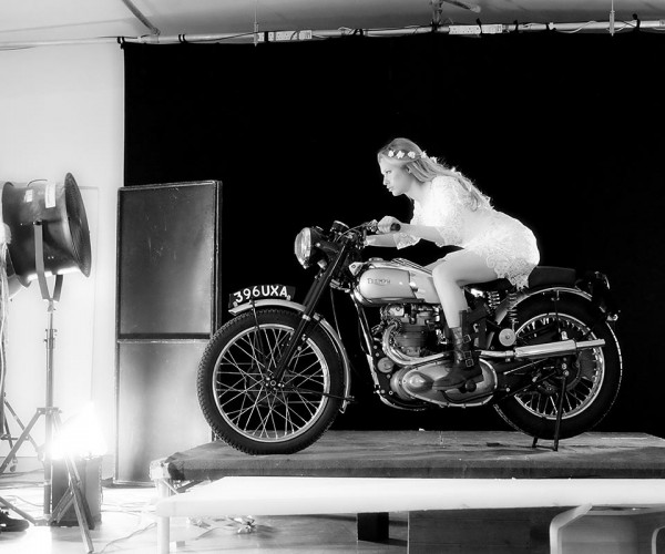 """Homage to a """"Girl on a Motorcycle"""""""