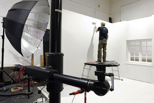 Roomset painting at Basement Photographic
