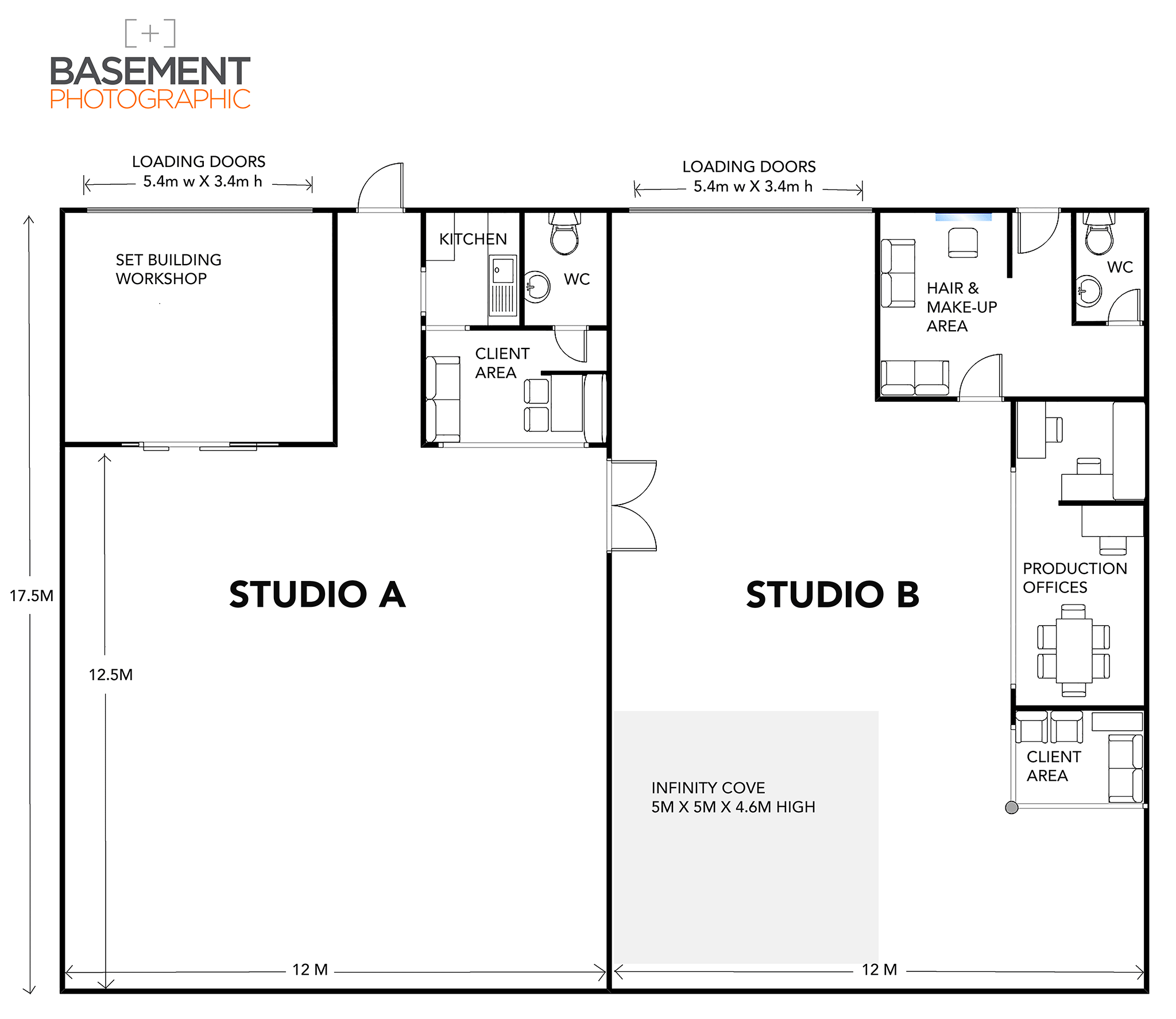 Basement Photographic Studio Floorplan