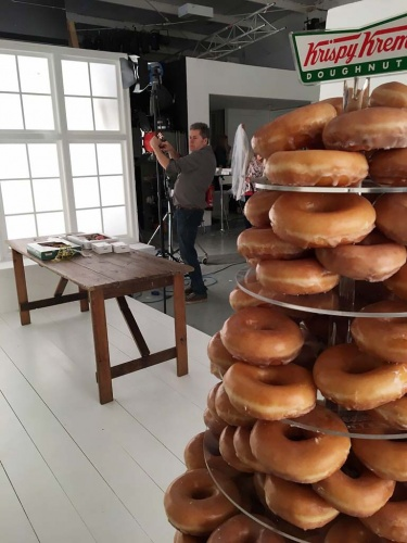 Krispy Kreme Wedding photoshoot at Basement