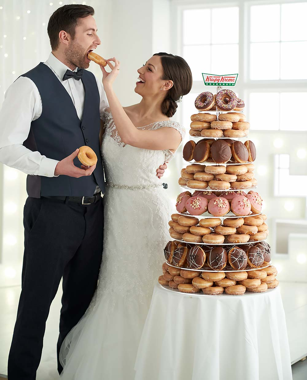 Krispy Kreme Wedding photoshoot at Basement